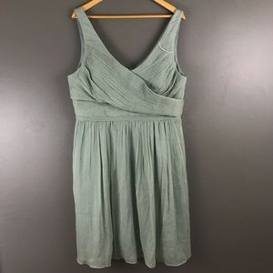 J.Crew Bridesmaids Silk Chiffon Dress